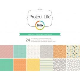 "Cartulinas Jade Edition de Project Life. Tamaño 12x12"""