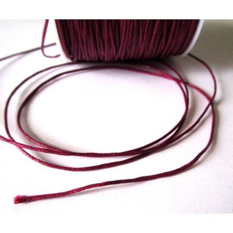 Cordón Encerado Vino de 1 mm