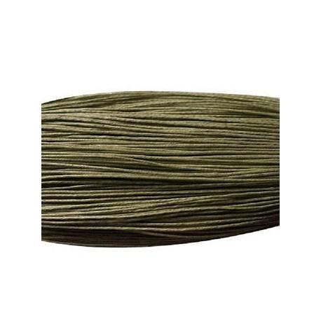 Cordón Encerado Verde Oliva Oscuro de 1 mm