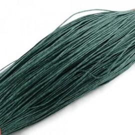 Cordón Encerado Verde Oscuro de 1 mm