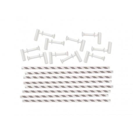 Kit para molinillos de viento GRIS CON BLANCO de We R Memory