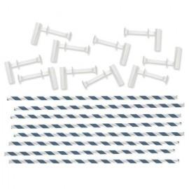 Kit para molinillos de viento AZUL CON BLANCO de We R Memory