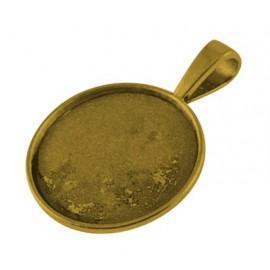 bases para camafeo de metal, color oro antiguo, tamaño de la abertura 25 mm