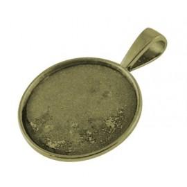 bases para camafeo de metal, color bronce antiguo, tamaño de la abertura 25 mm