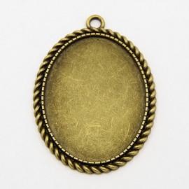 Bases para camafeo de Ovalo en color bronce antiguo