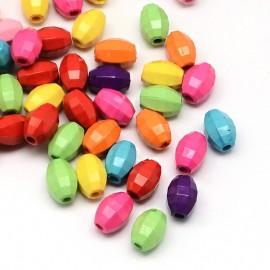 Abalorio facetado en colores variados
