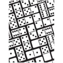"Folder embosador ""Dominoes Background"" de Darice"