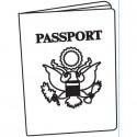 """Folder Embosador """"Passport Background"""" de Darice"""