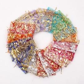 Bolsas de organza de colores con diseños variados