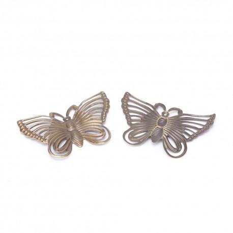 Mariposas de metal en color Bronce Antiguo.