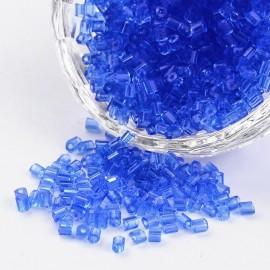 Abalorios de canutillo de vidrio Azul, tamaño 8/0