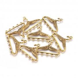 Colgantes con forma de percha, color Oro antiguo