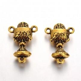 Colgantes con forma de Caliz, color Oro antiguo. Rosario
