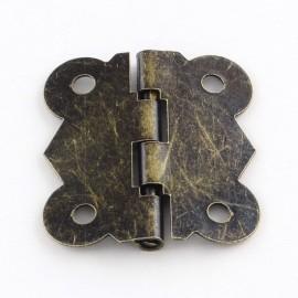 Bisagras de metal en Bronce Antiguo