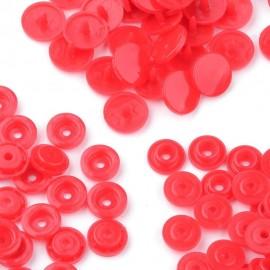 Paquete de 100 cierres plastico color rojo