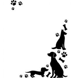 Folder embosador Huellas de Perro de Darice