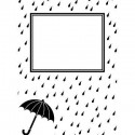 "Folder embosador ""Raindrops and Umbrella"" de Darice"
