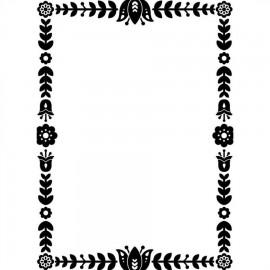 "Folder Embosador ""Floral Border"" de Darice"