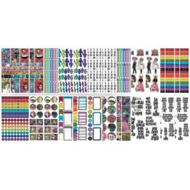 Block Dylusions de Stickers, contiene 427 piezas.