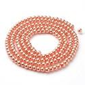 Perlas de vidrio color Coral de 4mm