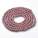 Perlas de vidrio color Rojo Indio de 4mm