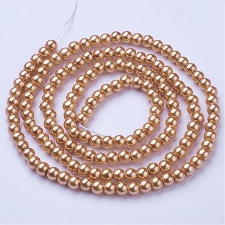 Perlas de vidrio color BurlyWood de 6mm