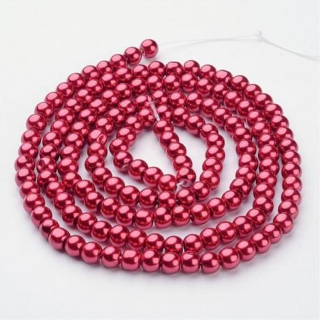 Perlas de vidrio color Café e 6mm