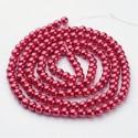 Perlas de vidrio color Rojo 6mm