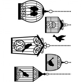 "Folder embosador ""Bird Cages"""