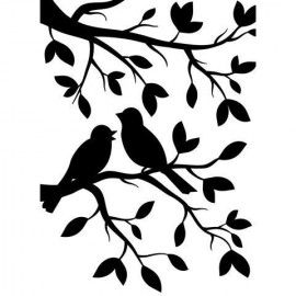 "Folder embosador ""Bird on Branch """