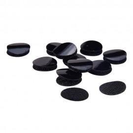 Set de velcro negro de 20 mm de diametro