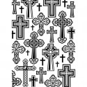 "Folder Embosador ""Crosses""de Darice"