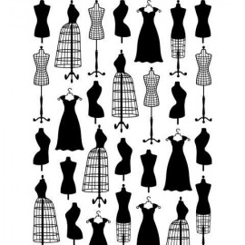 "Folder Embosador ""Dress Form SM"" de Darice"