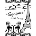 "Folder Embosador ""French Bistro"" de Darice"