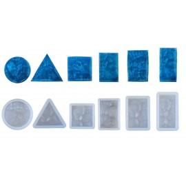 Paquete de 6 moldes para trabajar con resina o encapsulado