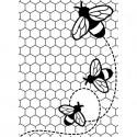 "Folder Embosador ""Bees Buzzing"" de Darice"