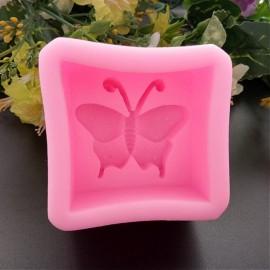 Molde de silicone de cuadrado con mariposa