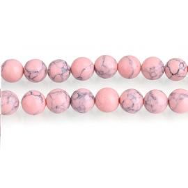 Piedra Sintética de Turqueza color Rosado Claro. 10 mm