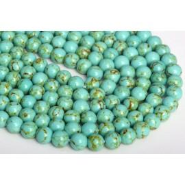 Piedra Sintética de Turqueza color verde10 mm
