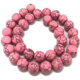PS-008-MT Piedra Sintética de Turqueza color Rosado, 10 mm