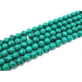 Piedra Sintética de Turqueza color verde agua, 10 mm
