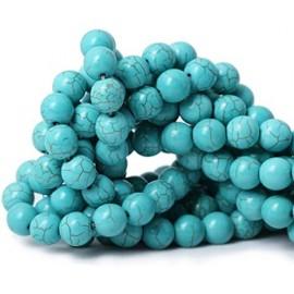 Piedra Sintética de Turqueza color celeste, 4 mm