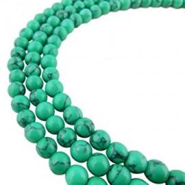 Piedra Sintética de Turqueza color Verde Agua, 4 mm