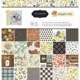 "Block cartulina estampada ""Simple Life"" de Jen Hadfield, 12x12"""