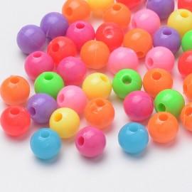 Paquete de abalorios de colores, plastico, 8x7,5mm