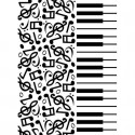 "Folder Embosador ""Piano Notes"" de Darice"