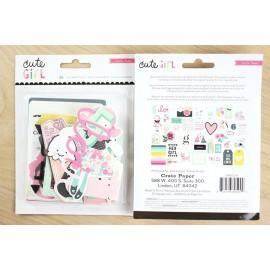 6805809-MT Paquete Cute Girl Ephemera de Crate Paper
