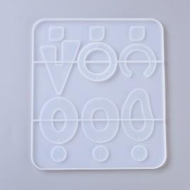 Molde de silicone con 6 diseños de aretes para resina